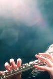 Concierto de la música de la flauta Imágenes de archivo libres de regalías