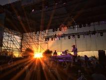 Concierto de la puesta del sol imagenes de archivo