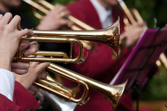 Concierto de la trompeta fotos de archivo