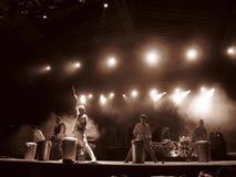 Concierto de Mika en Cagliari - junio de 2010 Fotografía de archivo
