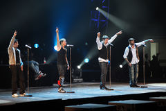 Concierto de Pekín del viaje del mundo de Backstreet Boys Fotos de archivo libres de regalías
