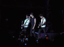 Concierto de rock de los hermanos de Jonas Imagen de archivo