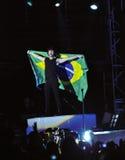 Concierto de rock de los hermanos de Jonas Foto de archivo libre de regalías