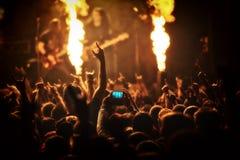 Concierto de rock, festival de música Foto de archivo libre de regalías