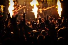 Concierto de rock, festival de música Fotos de archivo