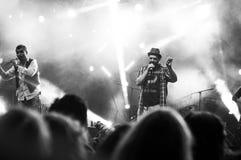 Concierto de rock vivo Imagenes de archivo