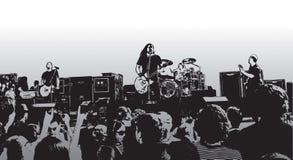 Concierto de rock X Imagen de archivo