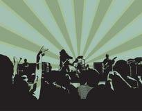 Concierto de rock XI Fotos de archivo