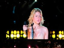 Concierto de Shakira, Costa Rica foto de archivo libre de regalías