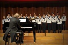 Concierto de St austríaco, coro del muchacho de Florian Fotografía de archivo libre de regalías