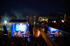 Concierto de Vama en el Fest 2017, Bucarest, Rumania de la comida de la calle Fotografía de archivo libre de regalías