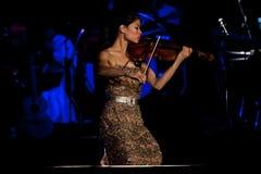 Concierto de Vanesa-Mae Foto de archivo libre de regalías