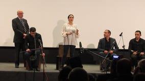 Concierto del artista armenio Artur Shahnazarian almacen de metraje de vídeo