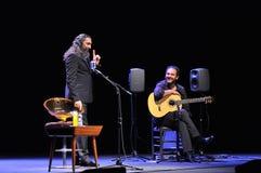 Concierto del cantante del flamenco de Diego el Cigala en Gijón Imagen de archivo libre de regalías