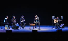 Concierto del cantante del flamenco de Diego el Cigala en Gijón Foto de archivo