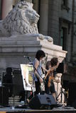 Concierto del grupo punky Imágenes de archivo libres de regalías