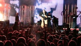 Concierto del hip-hop de Parazitii Fotos de archivo libres de regalías