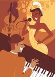 Concierto del jazz stock de ilustración
