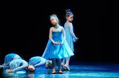 Concierto del teatro de danza de 'Kolibri', el 17 de enero de 2016 en Minsk, Bielorrusia Fotos de archivo libres de regalías