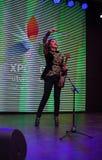 Concierto del violín en el pabellón de Kazajistán, expo 2015 en Milán Imagenes de archivo