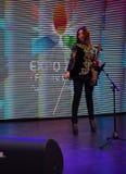 Concierto del violín en el pabellón de Kazajistán, expo 2015 en Milán Imagen de archivo