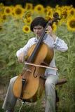 Concierto del violoncelo Foto de archivo libre de regalías