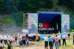 Concierto patriótico Yavorina en Ucrania occidental fotografía de archivo libre de regalías