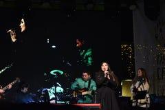 Concierto Paula Seling Oradea diciembre de 2016 Fotos de archivo