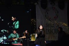Concierto Paula Seling Oradea diciembre de 2016 Fotografía de archivo libre de regalías