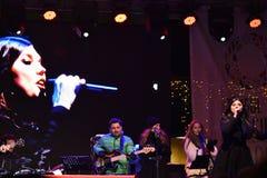 Concierto Paula Seling Oradea diciembre de 2016 Imagen de archivo