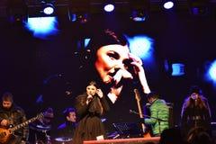 Concierto Paula Seling Oradea diciembre de 2016 Fotografía de archivo