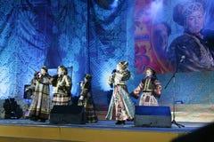 Concierto ruso del conjunto Fotografía de archivo