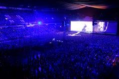 Concierto U2 en la arena de Amsterdam en julio de 2017 Imagen de archivo libre de regalías