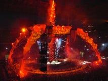Concierto U2 en Milano Foto de archivo