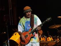 Concierto vivo de Carlos Santana Fotografía de archivo