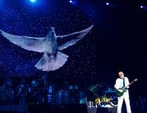 Concierto vivo de Carlos Santana Fotos de archivo