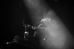 Concierto vivo de Outlawz en Moscú Rusia Fotos de archivo libres de regalías