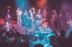 Concierto vivo de Outlawz en Moscú Rusia Imagen de archivo libre de regalías