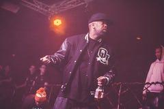 Concierto vivo de Outlawz en Moscú Rusia Foto de archivo