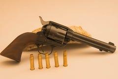 Conciliateur du poulain 45 de revolver Images libres de droits