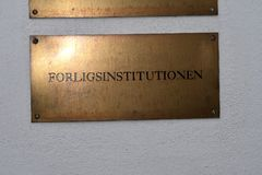 CONCILIATION BOARD OFFICE. Copenhagen/Denmark 23 April 2018_Conciliation baord office in where all danish labour unions and minister and state want to reach Royalty Free Stock Photography