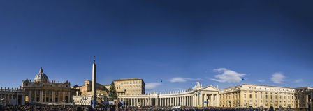 Conciliazione Vatikans San Pietro Rom Panorama connade bernini r Lizenzfreies Stockfoto