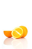 Concimi la frutta con calce arancione Fotografia Stock
