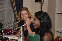Concita De Gregorio and Isabel Wilkerson. Concita De Gregorio, famous italian journalist and anchorman, and Isabel Wilkerson, Pulitzer award winning journalist Stock Photography