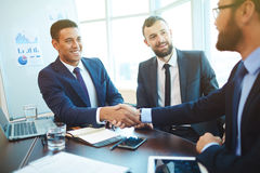 Concluding a deal Stock Images