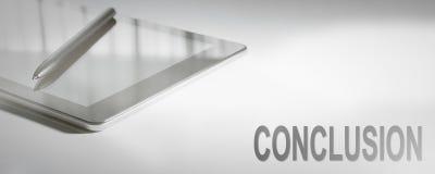 CONCLUSIE Bedrijfsconcepten Digitale Technologie stock afbeeldingen