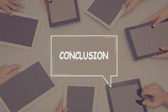 CONCLUSION CONCEPT Business Concept. Business text Concept Stock Photography