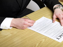 Conclusion of a contract Royalty Free Stock Photo