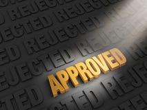 Conclusion de l'approbation au lieu du rejet Photo libre de droits