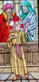 Conclusion de l'enfant Jésus dans le temple images stock